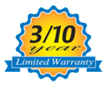 Aquamaster offers a 3/10 year limited warranty!
