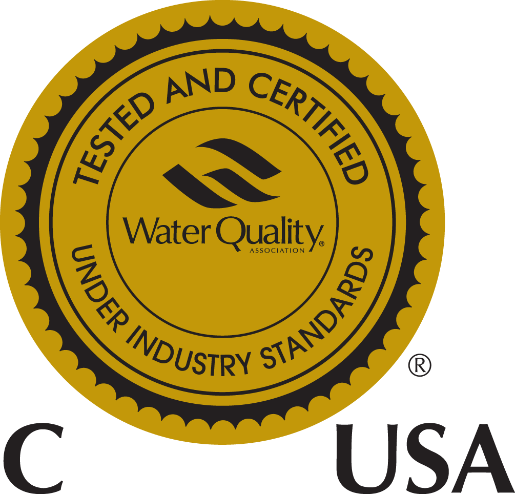 Aquamaster PRO water softeners are certified by WQA (Water Quality Association)
